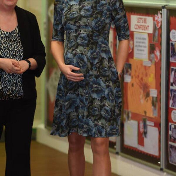 Kate Middleton decidió re utilizar un vesitdo que había solo usado unos días antes.