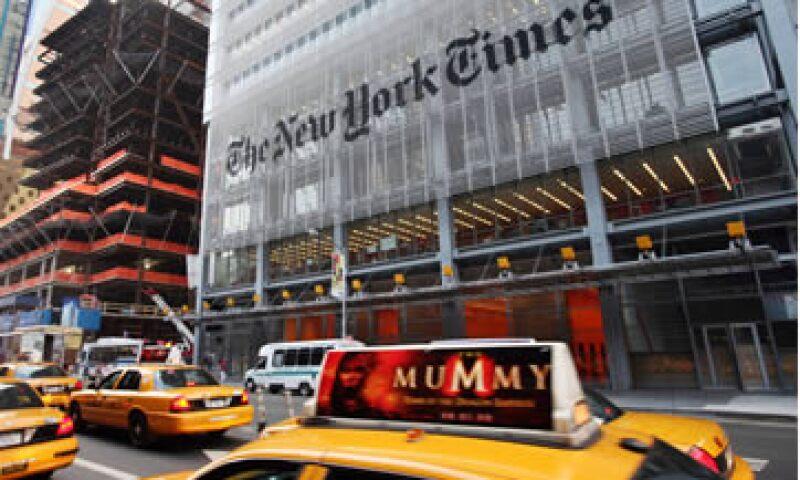 The New York Times pidió a las personas a través de Twitter, ignorar el correo equivocado. (Foto: AP)