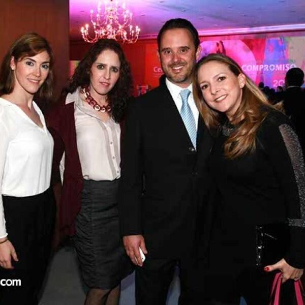 Silvia Ramos,Martha Martin,Rodrigo Vázquez y Lorena Carrasco