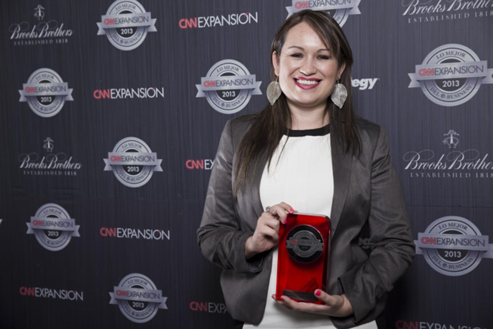 Sandra Weber, gerente senior e-Business de Experiencias Xcaret, consiguió junto con su equipo llevarse el reconocimiento como el Mejor negocio de Turismo.