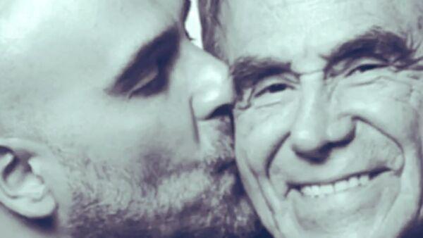 Héctor Suárez Gomís y su padre, Héctor Suárez