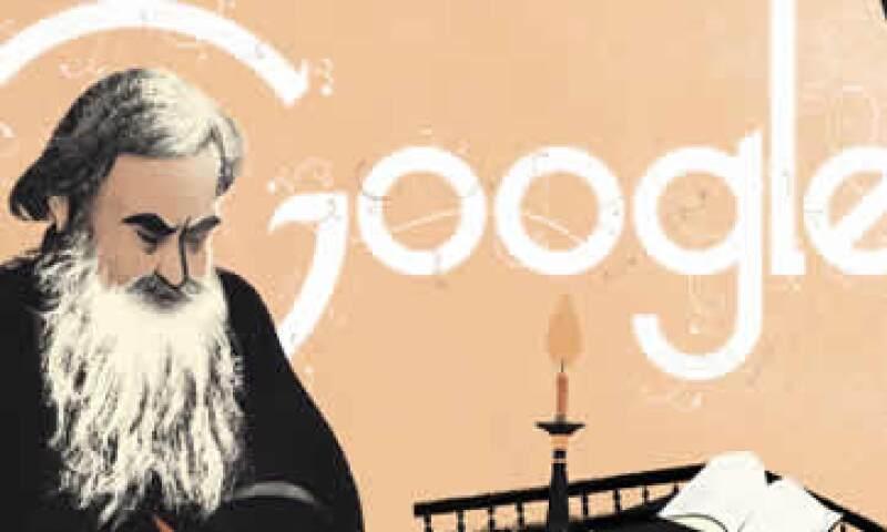 Google muestra en una primera imagen al escritor con una hoja y una pluma. (Foto: Tomada de Google)
