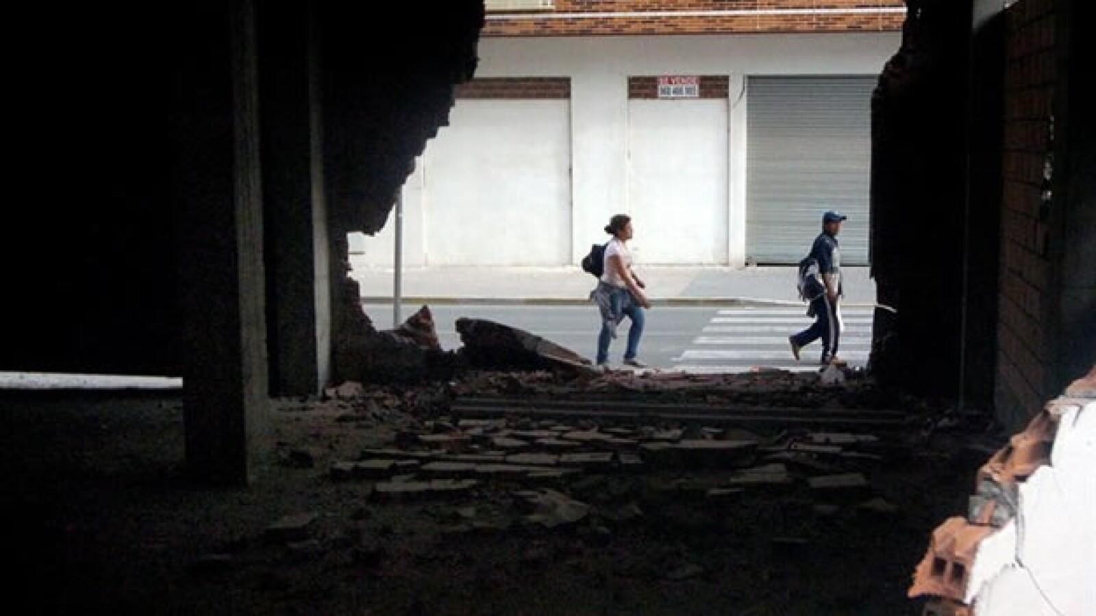 Afectados por un sismo en España