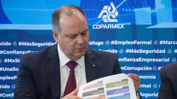 Coparmex Gustavo de Hoyos López Obrador salario mínimo