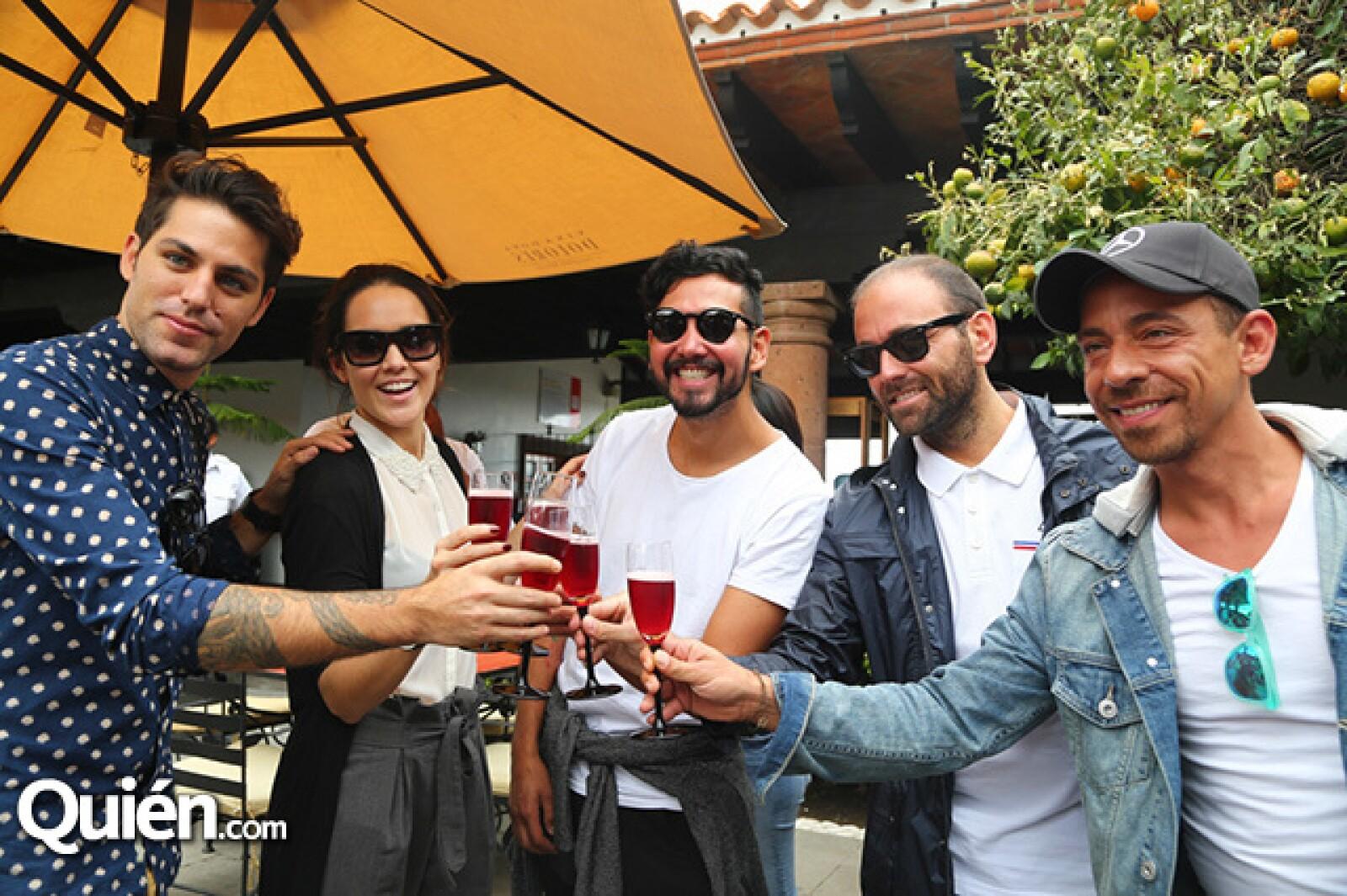 Renato López,Alex Ivanisevic,Luis Salcedo,Víctor Manuel Romero y René Ortiz