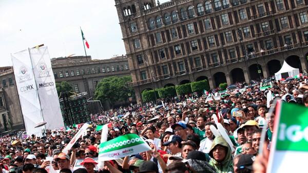 Zocafut México vs. Corea en el Zócalo