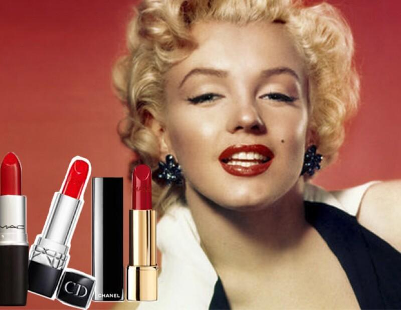 Los labios rojos, un sello de Marylin