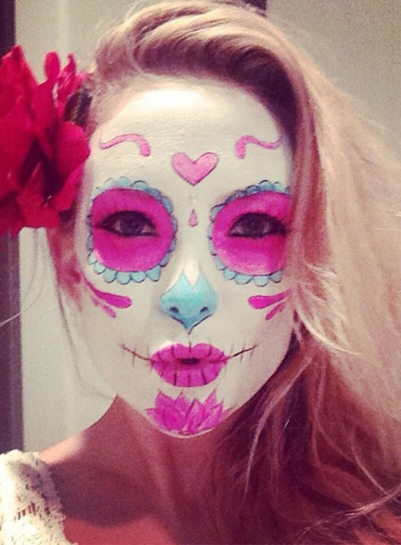 Así se maquilló Kate Hudson previo a Halloween.
