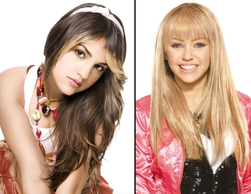 Eiza y Miley se convirtieron desde pequeñas en figuras públicas.