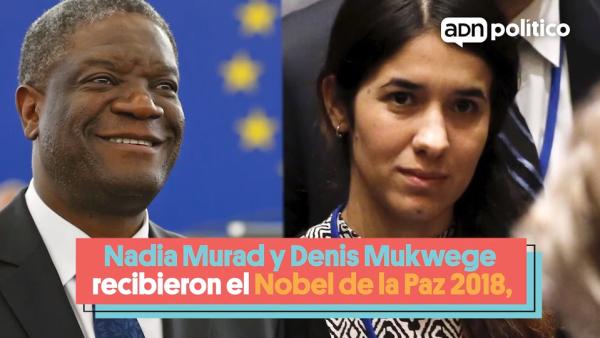 Conoce a los ganadores del premio Nobel de la Paz 2018