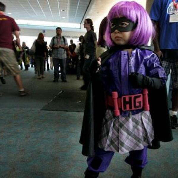 Una niña heroina del Comic-Com