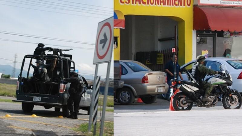 Elementos de la policía federal y el ejército mexicano intensificaron los operativos de vigilancia en Tamaulipas
