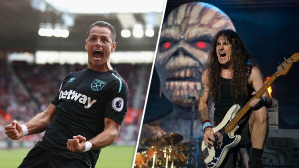 Chicharito y Steve Harris