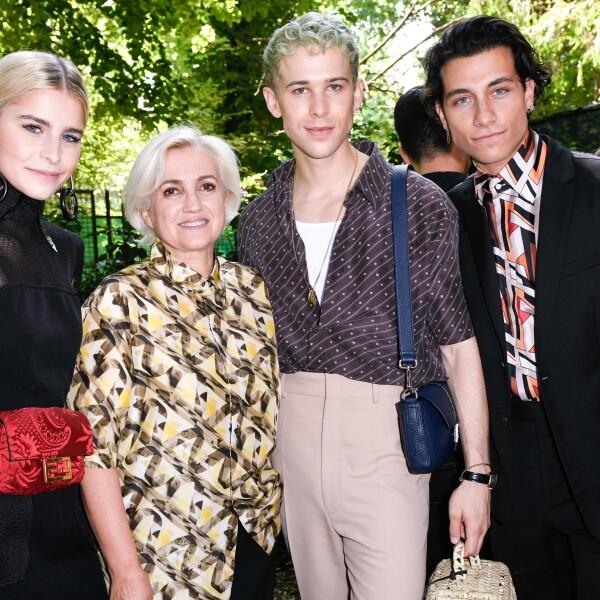 Caro daur, Silvia Venturini Fendi, Tommy Dorfman and Rob Raco @ FENDI MSS20 Fashion Show.jpg