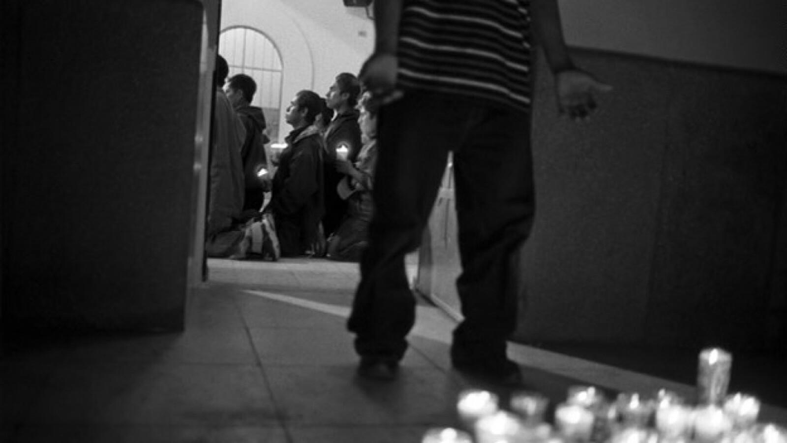 migrante en nuestra señora de guadalupe