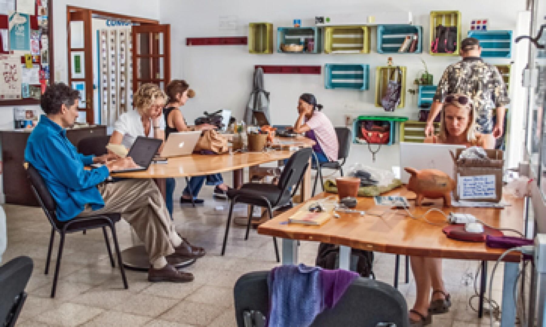 Impact Hub Oaxaca es una opción para las pequeñas empresas que buscan un lugar económico. (Foto: Mariana González)