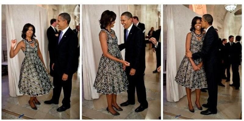 Esta fue la tierna imagen que se publicó desde la cuenta oficial del presidente de Estados Unidos.