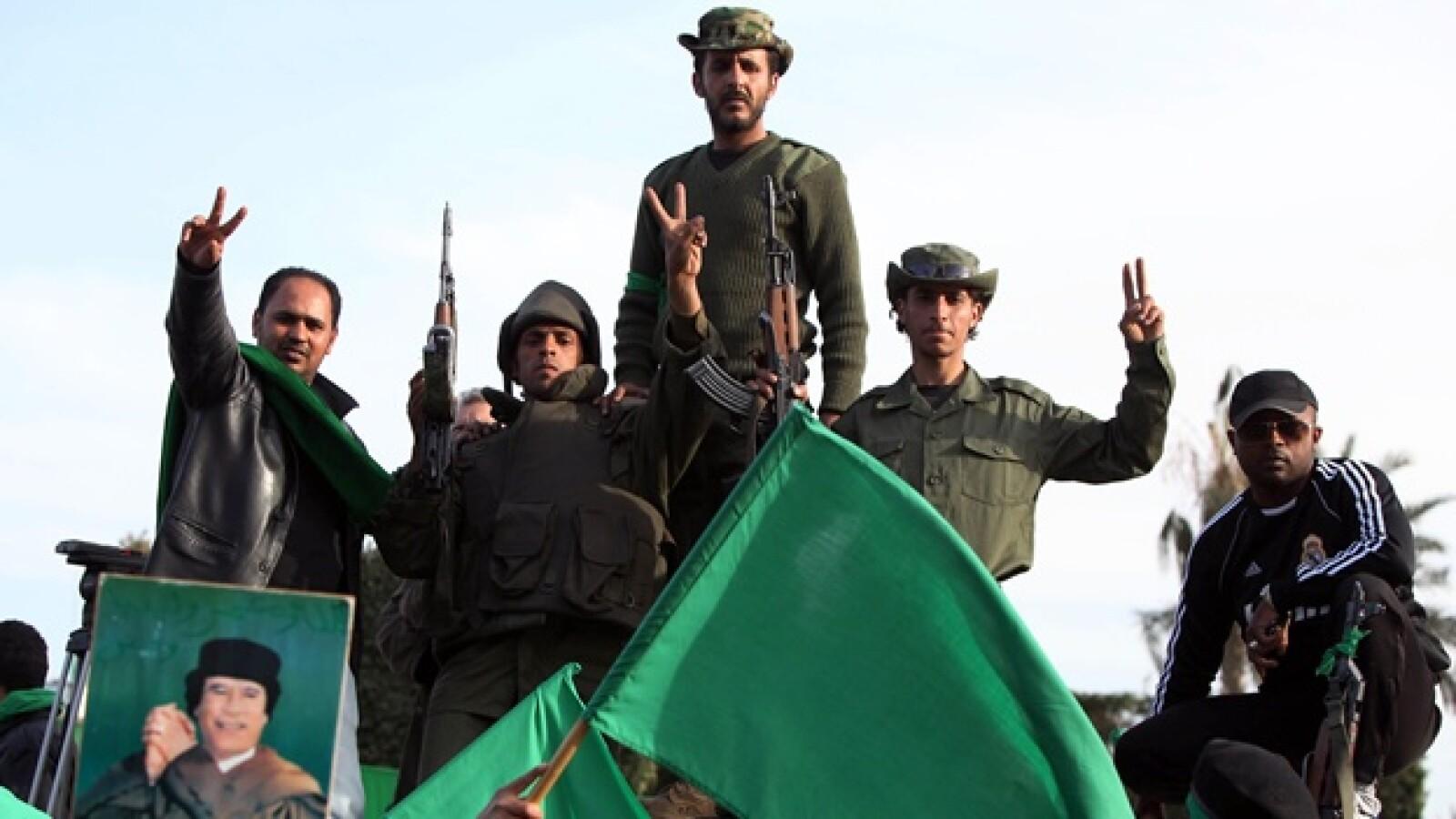 Libia - partidarios de Gadhafi