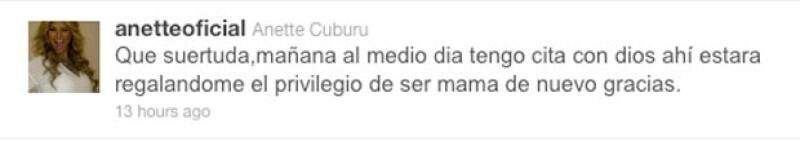 En unas horas, Cuburu prometió anunciar cuando sus bebés hayan nacido.