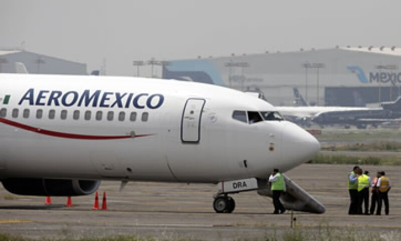 En la primera mitad del año, Aeroméxico realizó 150 operaciones diarias. (Foto: AP)