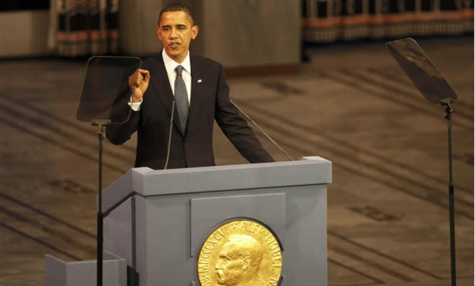Obama recibió el jueves el Premio Nobel de la Paz; el eje principal de su discurso de aceptación fue la guerra, justificó sus causas y aseguró que tiene un valor moral dentro del panorama global actual.