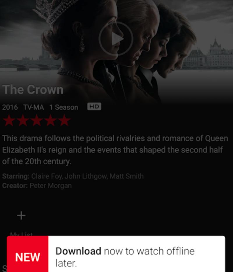 Netflix off line