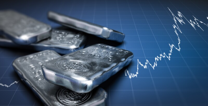 Silver Bullion Bars and Price Chart