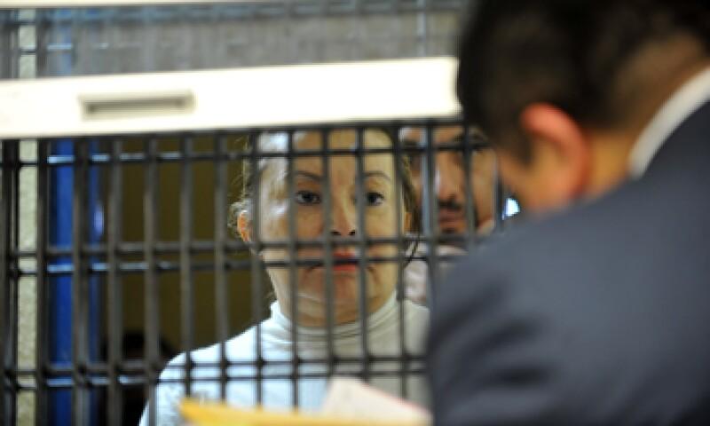 Gordillo fue detenida el martes en el aeropuerto de Toluca. (Foto: Notimex)