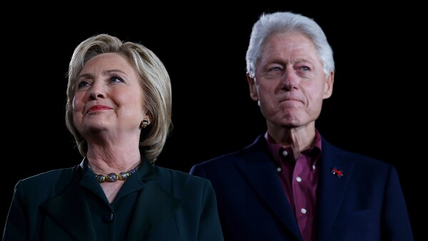 Hillary y William Clinton