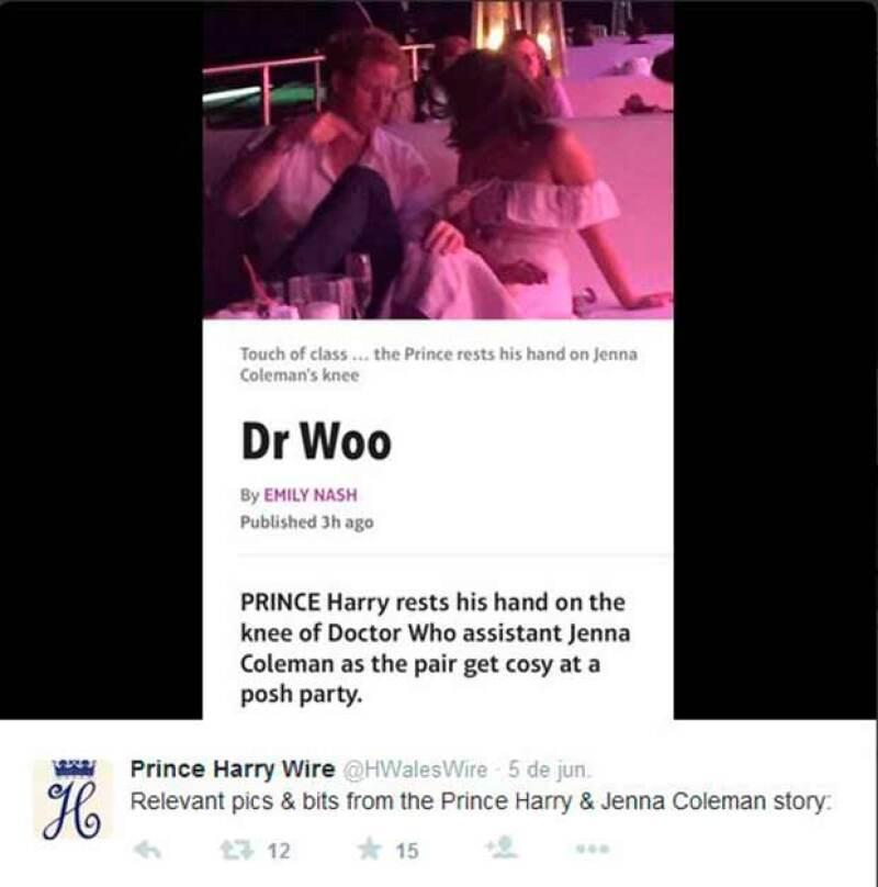 El príncipe, de 30 años, y la actriz, de 29, fueron vistos disfrutando juntos en una fiesta celebrada el pasado 4 de junio.