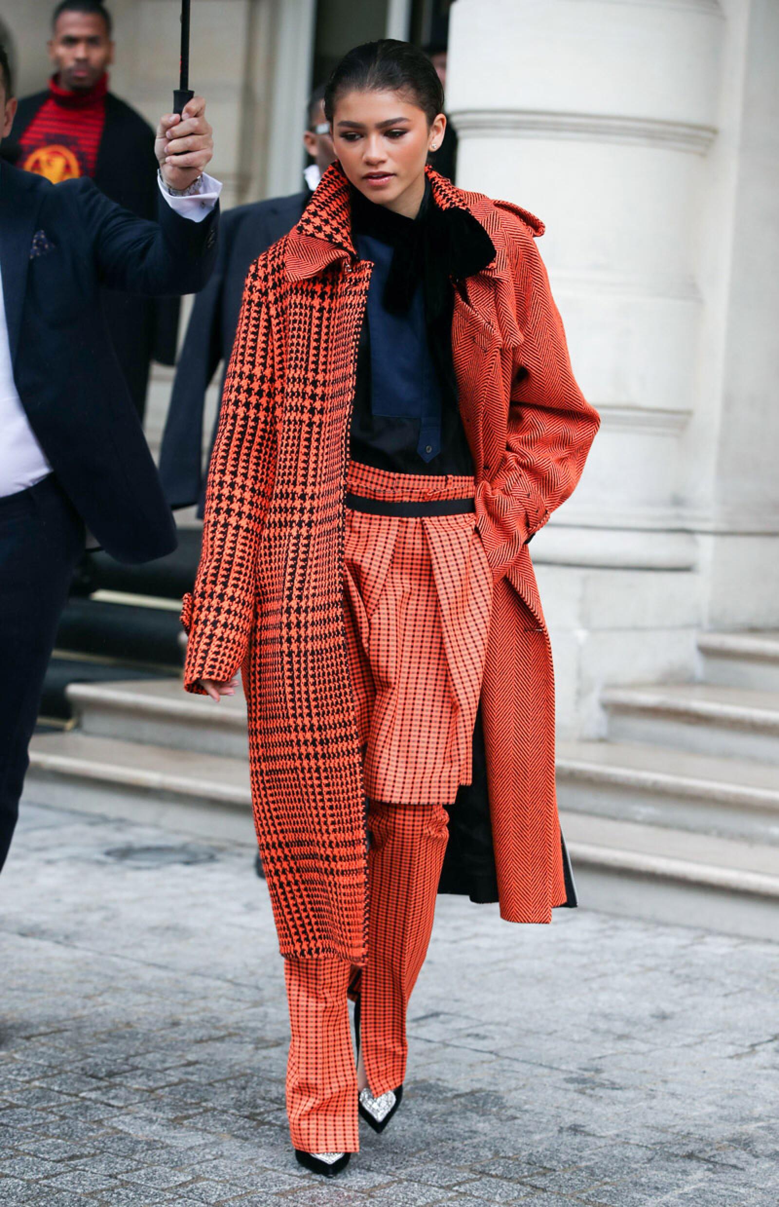 Zendaya out and about, Paris Fashion Week, France - 01 Mar 2019