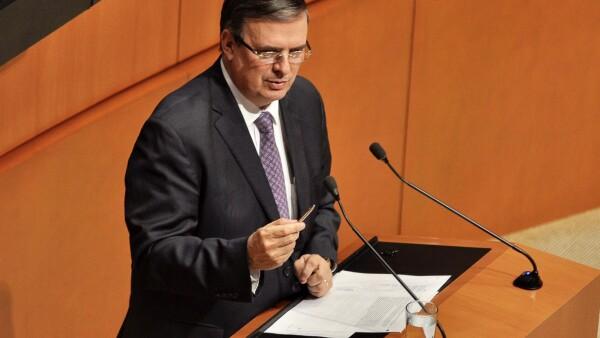 Marcelo Ebrard ante Comisión Permanente