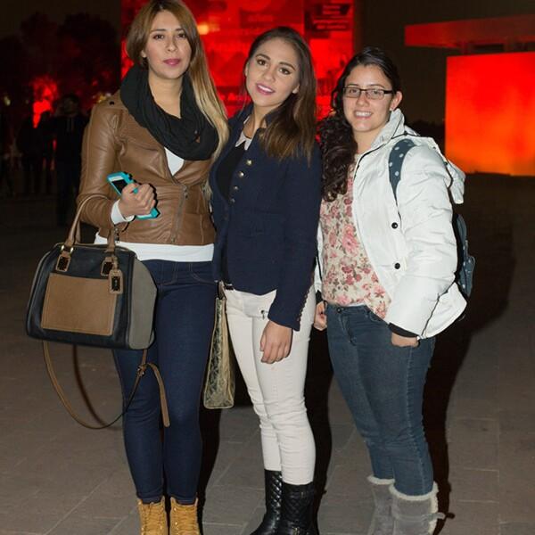 Alejandra Lluch, Karen Morán y Valerie Gasca