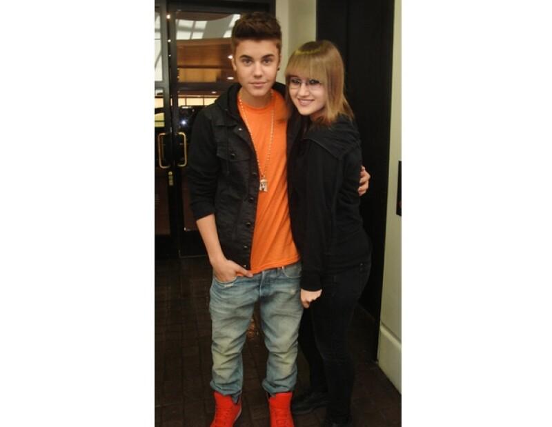 Sarah ha comentado que tiene una buena relación con Justin Bieber.