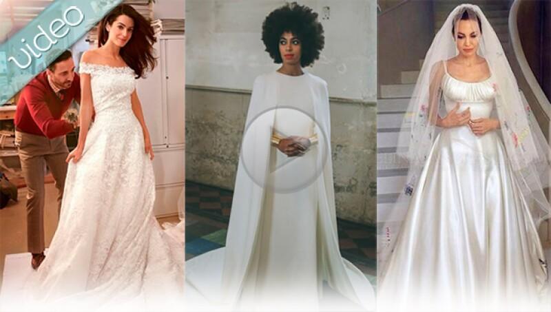 Este año, Angelina Jolie, Amal Alamuddin y Kim Kardashian fueron de las novias más espectaculares. Aquí un recuento de los diseños a los que le damos nuestro sí, acepto.