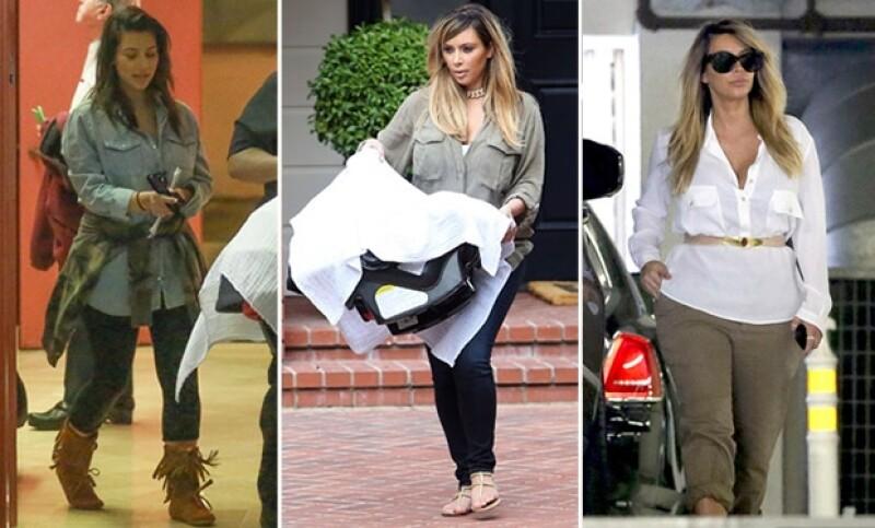 Así ha sido captada la más popular de las hermanas Kardashian tras dar a luz a North West.