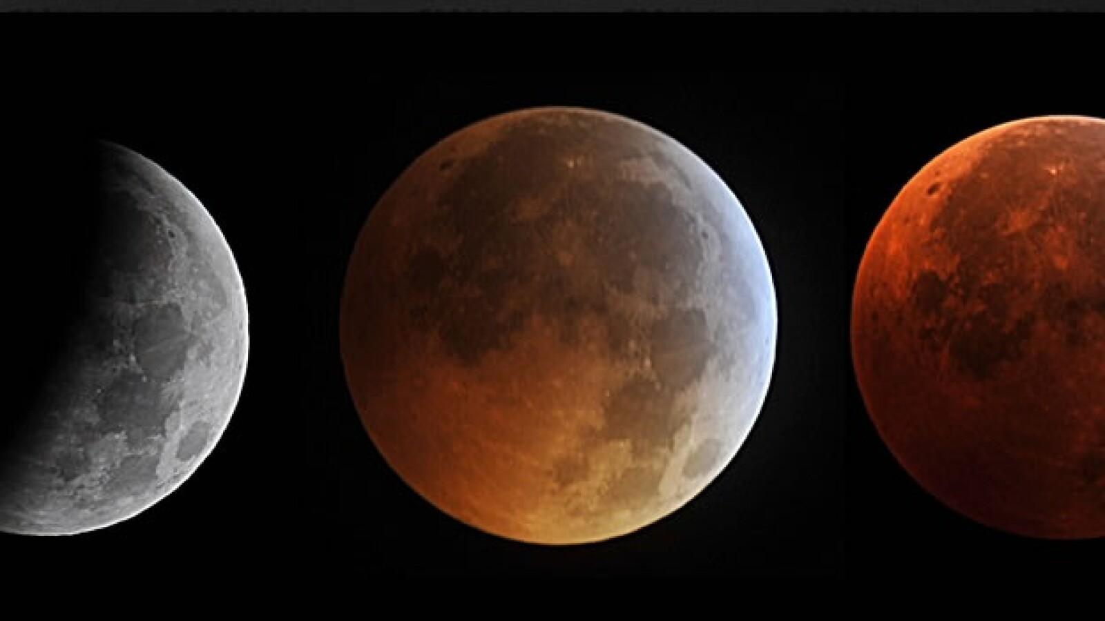 Un eclipse total de luna coincidió con el solsticio de invierno