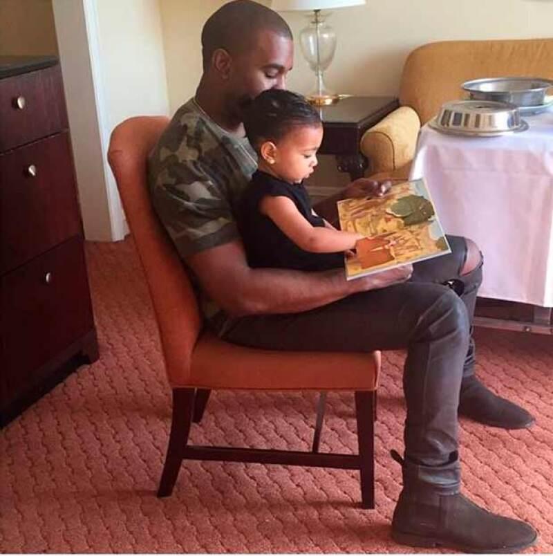 Kanye celebró el Día dek Papá junto a su pequeña North.