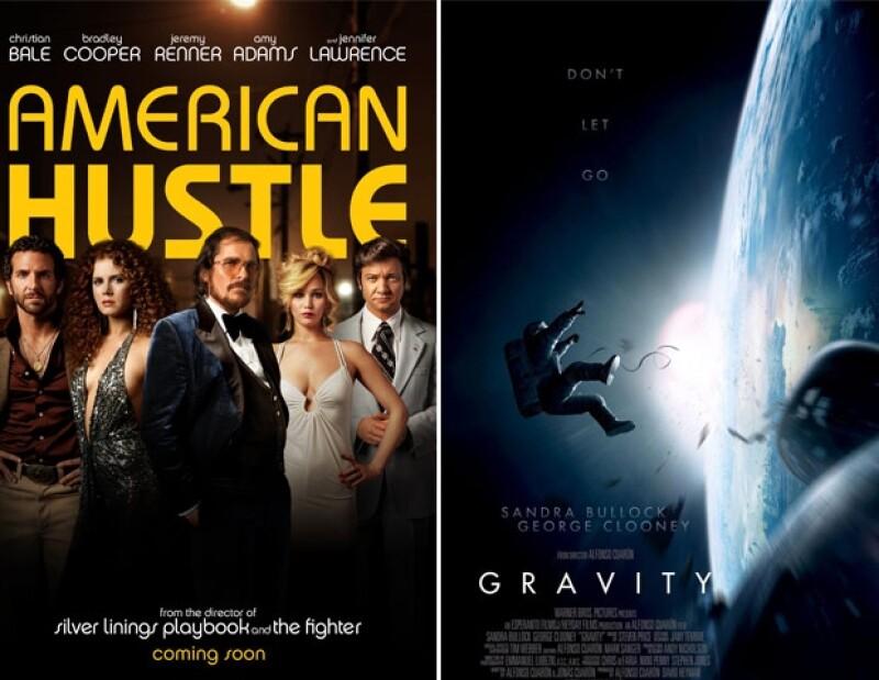 """Ambas películas recibieron 10 nominaciones, entre ellas Mejor Director y Mejor Actriz; """"12 Years a Slave"""", se llevó nueve nombramientos."""