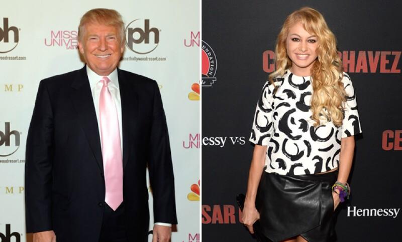 La cantante se une a la larga lista de famosos en mostrar una opinión negativa en contra del precandidato a la presidencia de Estados Unidos, por sus declaraciones contra México y los inmigrantes.
