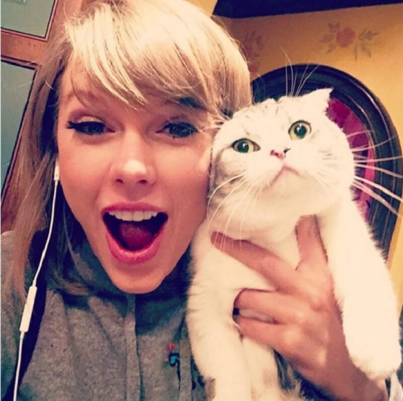 Meredith es alérgica a la alegría, escribe la cantante en una de las fotos más populares del 2015 en Instagram, y la selfie que más likes ha tenido en el historial de Taylor.