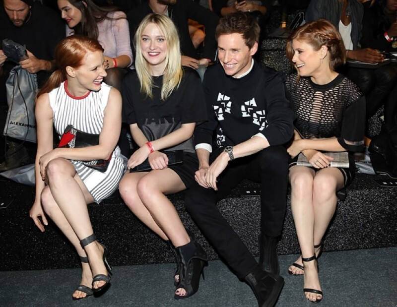 Jessica Chastain, Dakota Fanning, Eddie Redmayne y Kate Mara.