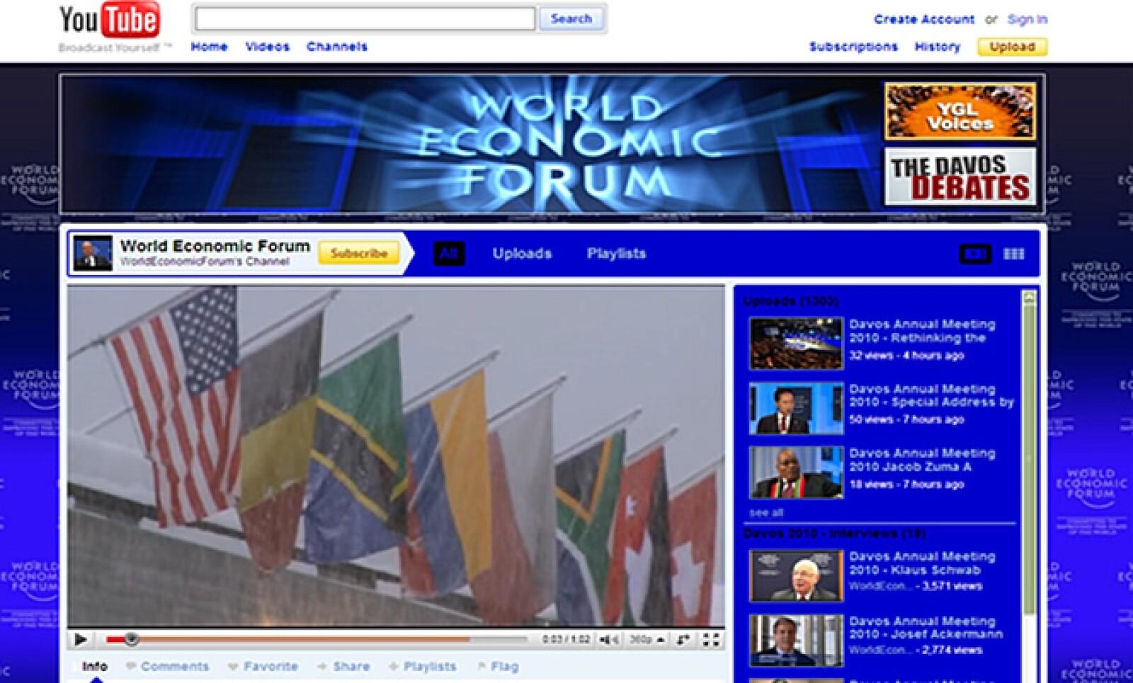 El Foro Económico Mundial innovó este año promoviéndose por medio de redes sociales como Facebook, YouTube y Twitter.