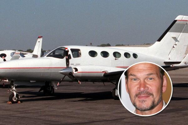 Patrick Swayze, avión
