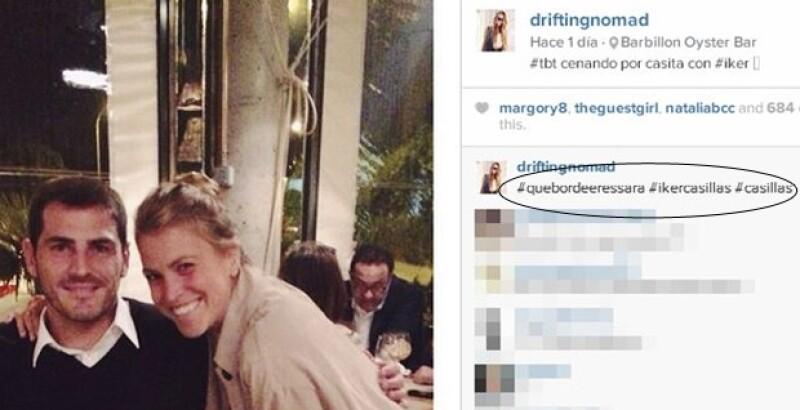 En esta imagen se puede apreciar el comentario que hizo la bloguera en su propia foto.