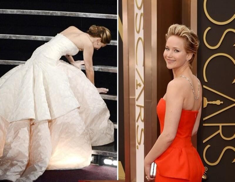 A Jennifer Lawrence le encanta el piso de los teatros.