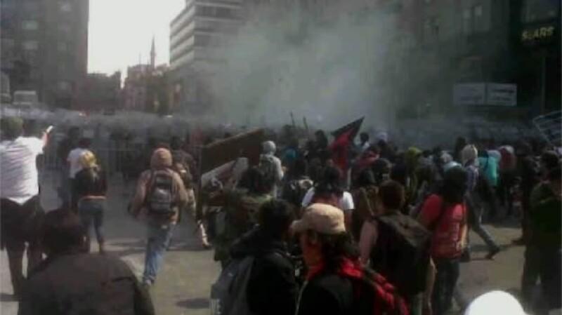 protestas centro 1 diciembre 2012
