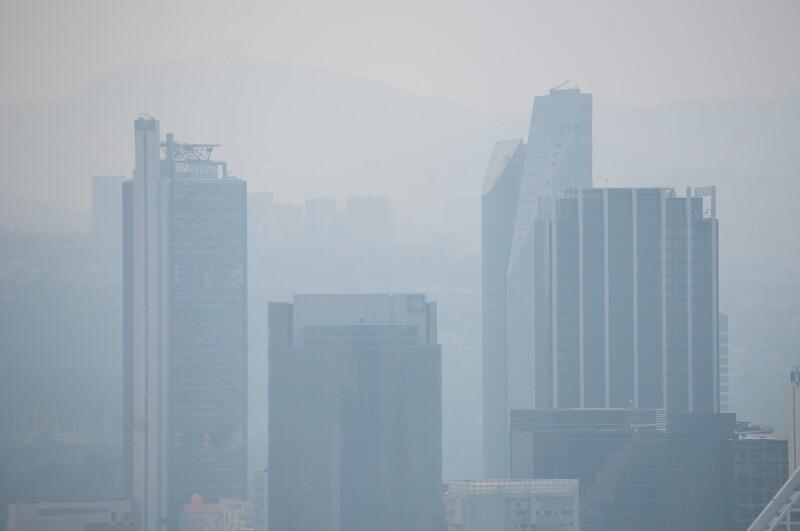 A las 14:00 la calidad del aire en la CDMX esta mala con 147 puntos imecas.