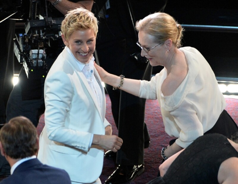 Ellen DeGeneres y Meryl Streep.