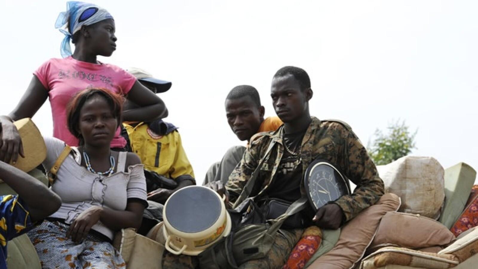Costa de Marfil - desplazados